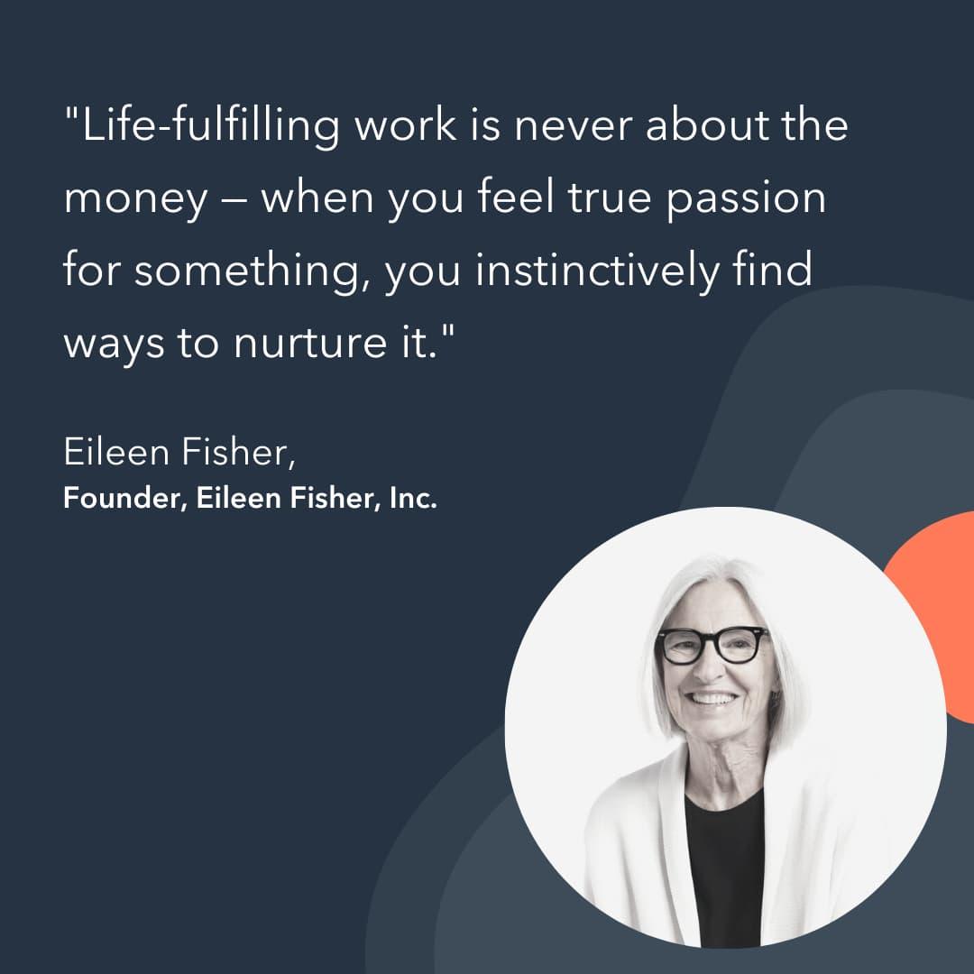 entrepreneur advice Eileen Fisher
