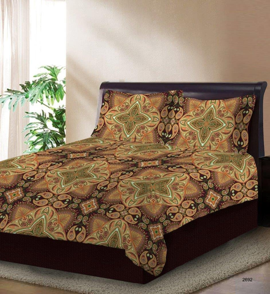 Bombay Dyeing Cotton Double 120 TC Bedsheet