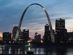 St. Louis Arch at dusk