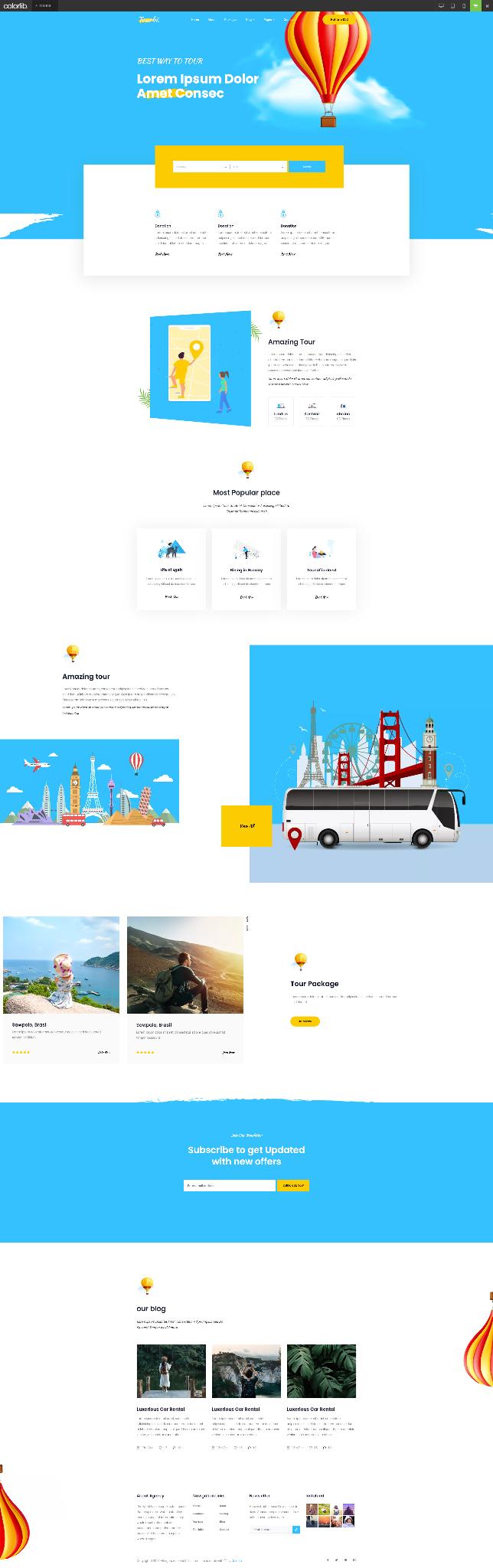 Mẫu website du lịch 5