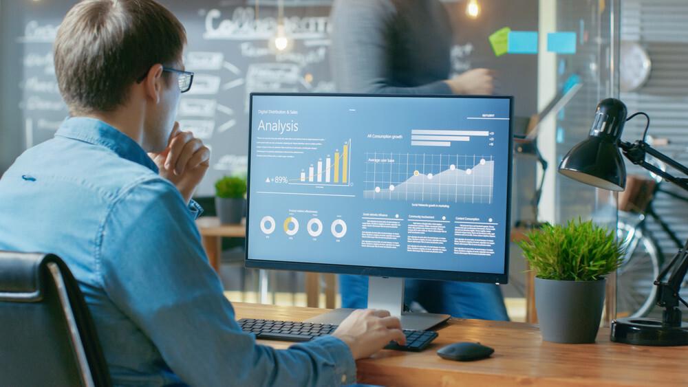 Monitor konten marketing