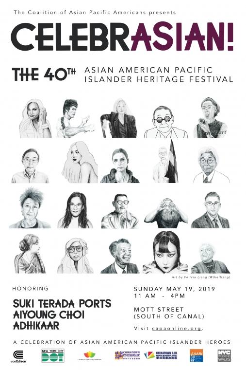 40th Asian American Pacific Islander Heritage Weekend Walk Poster