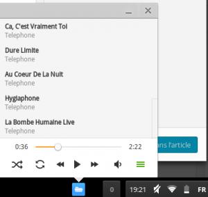 Visuel du lecteur Multimédia de Chrome OS en 2014