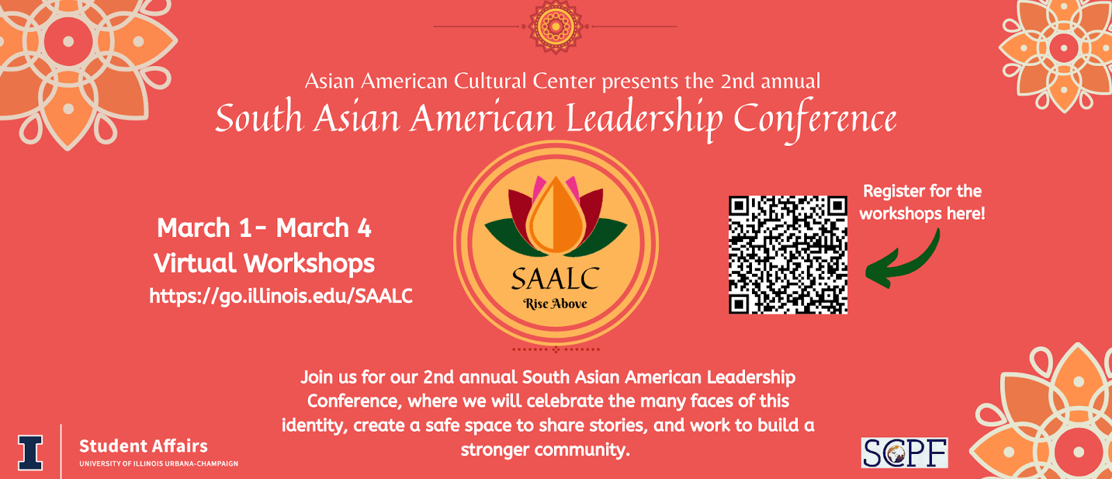 Picture of the South Asian American Leadership Conference banner