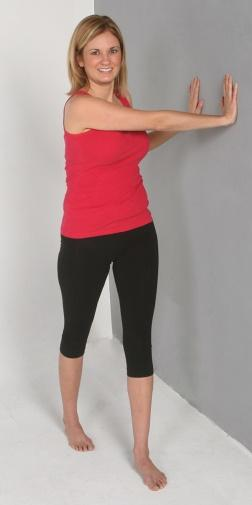 E:\Exercise Library Pics - Stretches\Wall Rotation Stretch\Wall Rotation Stretch (#1).JPG