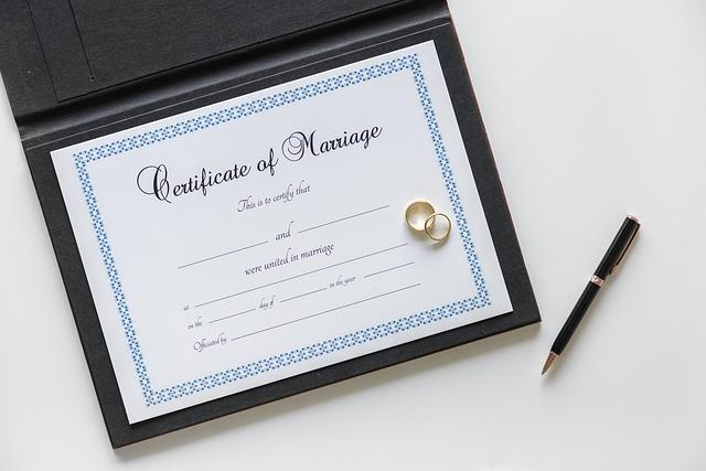 wedding ideas - wedding planning - marriage certificate with a pen - wedding planning - services provided by wedding planners in Philadelphia PA - wedding planners capable - wedding ideas blog by K'Mich
