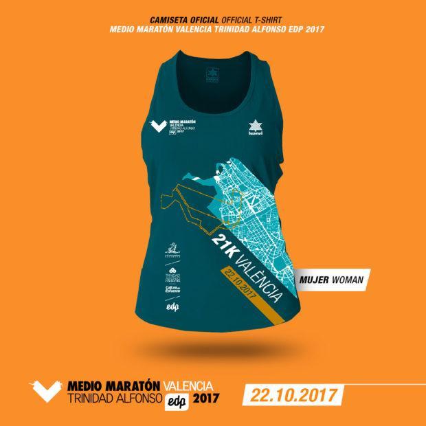Camiseta Medio Maratón Valencia 2017