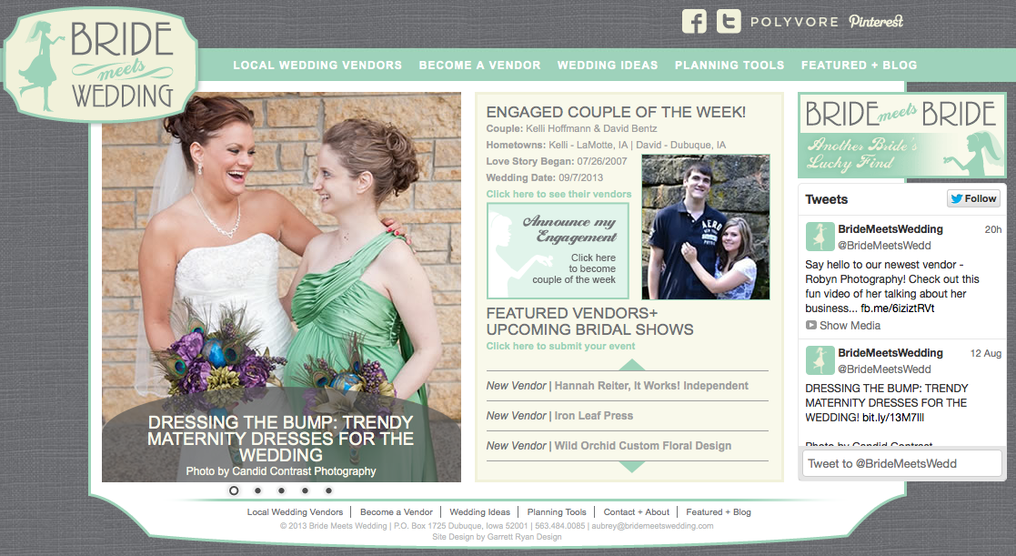 Bridemeetswedding.com Homepage