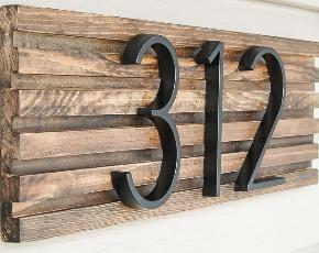 Creative DIY House Number Signs & Address Plaques • The Garden Glove