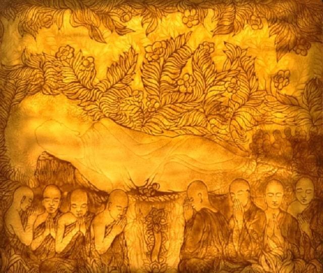 Tranh treo bàn thờ có nội dung là Phật nếu không may bị hỏng tuyệt đối không được vứt đi