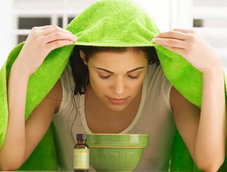 Xông hơi giúp làm thông thoáng mũi xoang, tiêu viêm, diệt khuẩn tốt
