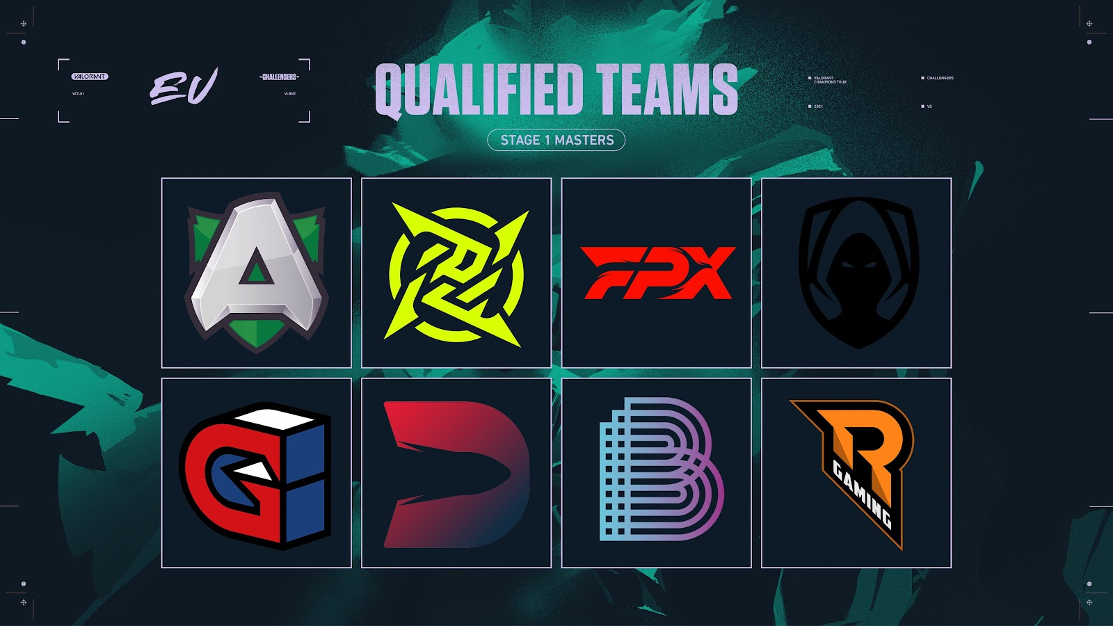 VCT 2021: EU Stage 1 Masters teams