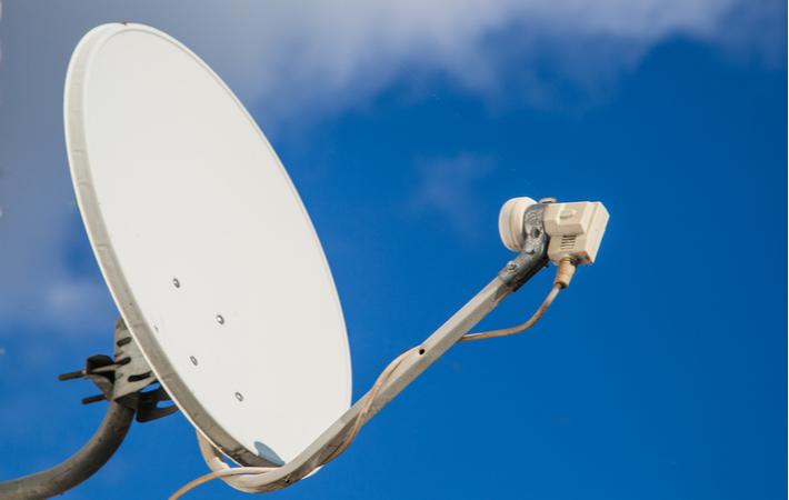 a satellite dish used for satellite internet