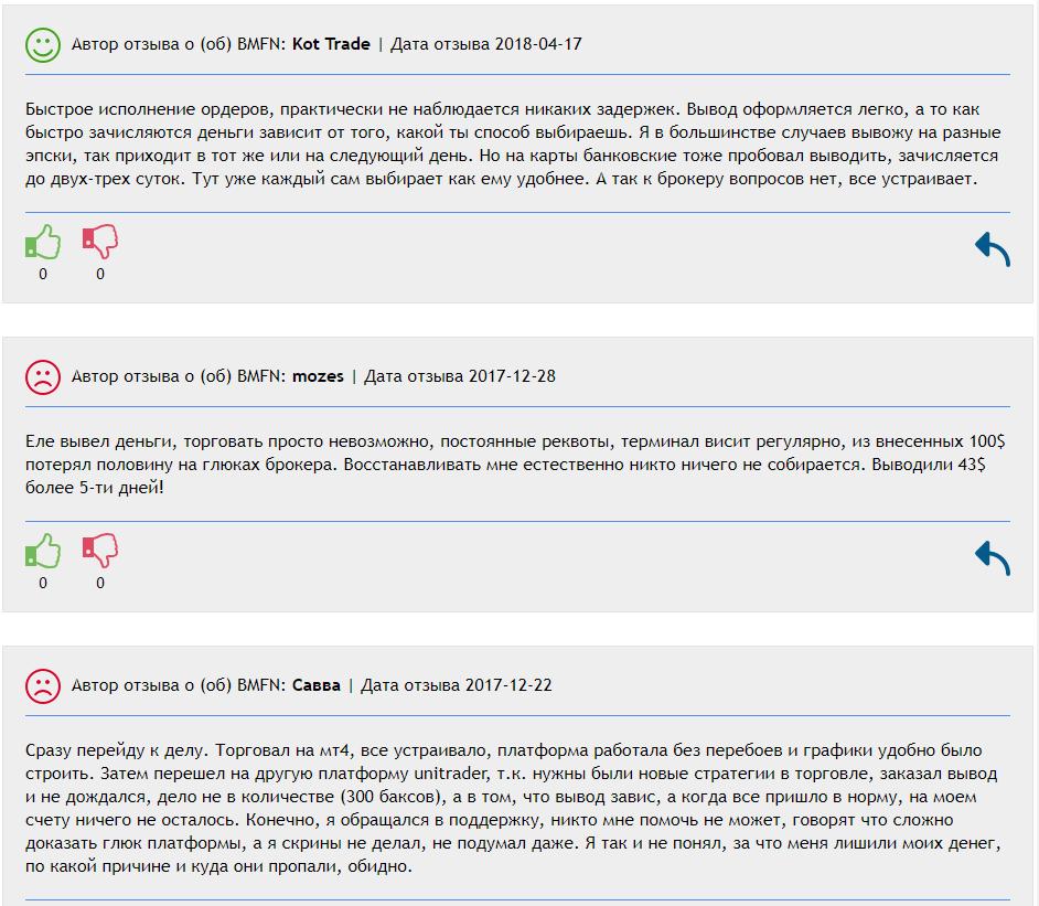 Экспертный обзор на брокера BMFN: что пишут пользователи в отзывах?