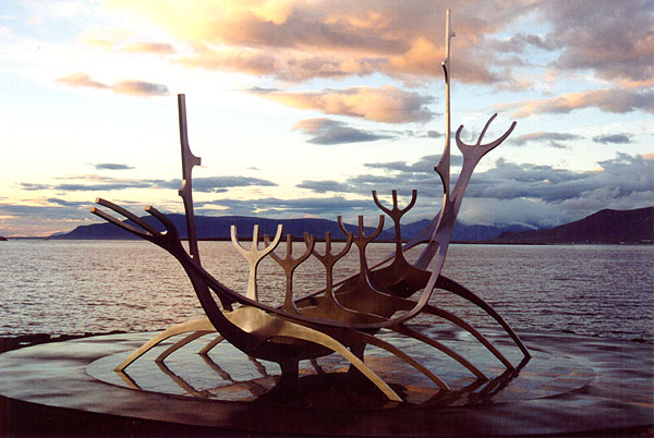 Solfarid, the Sun Voyager Sculpture.