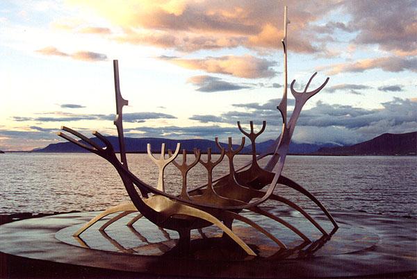 Solfarid, the Sun Voyager Sculpture.