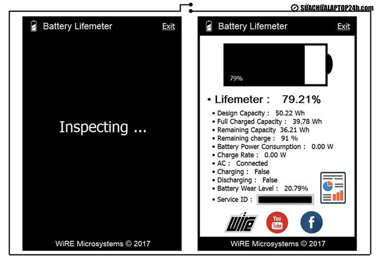 Phần mềm Battery Lifemeter