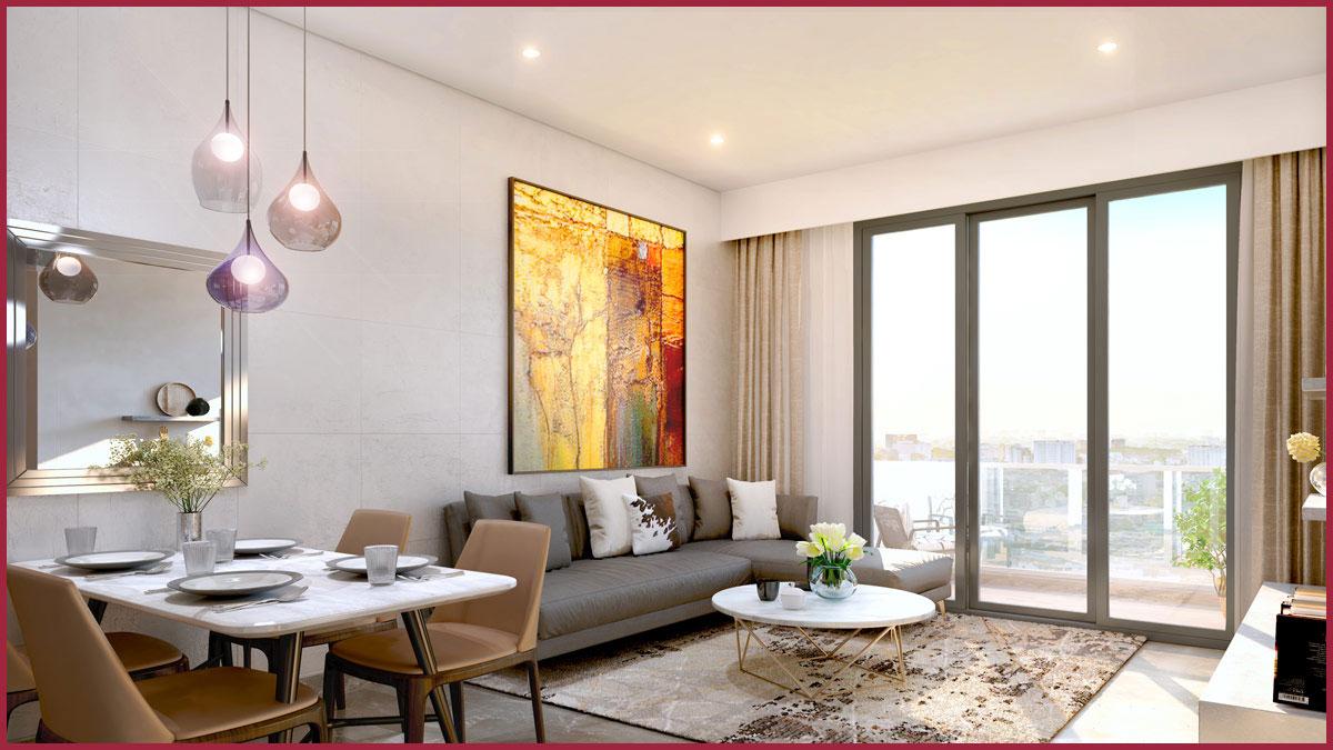 Phối canh căn hộ mẫu không gian mở tạo cảm giác thoải mái hiện đại cho cư dân