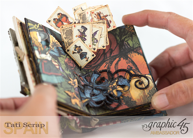 Tati, Hallowe'en in Wonderland - Deluxe Collector's Edition, Pop-Up Book, Product by Graphic 45, Photo 14