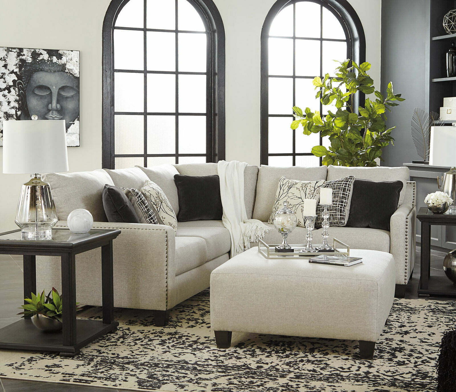 Rene Modern Style Sectional With Ottomansfurniturestorelosangeles.com · In stock