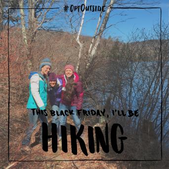 Young women hiking