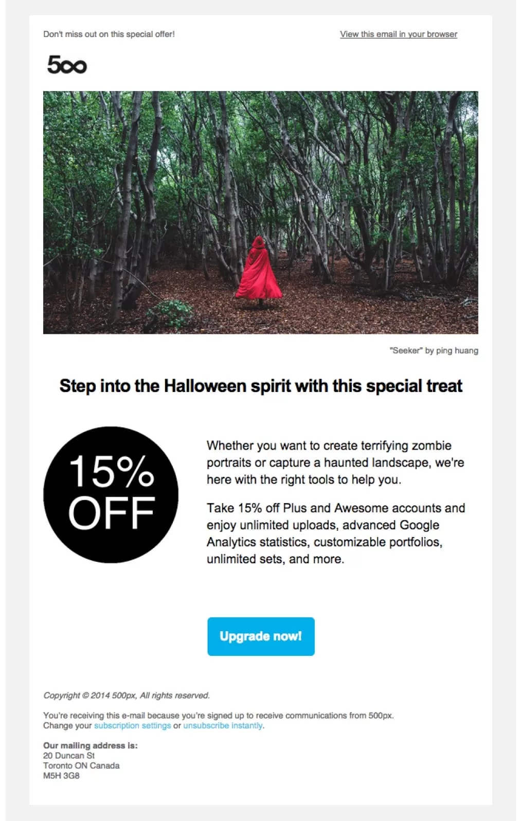 promotional email marketing example