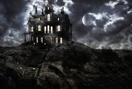 Image result for haunted house on top of a hill