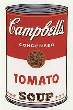 Andy Warhol's iconic painting of a can of Campbell's soup.