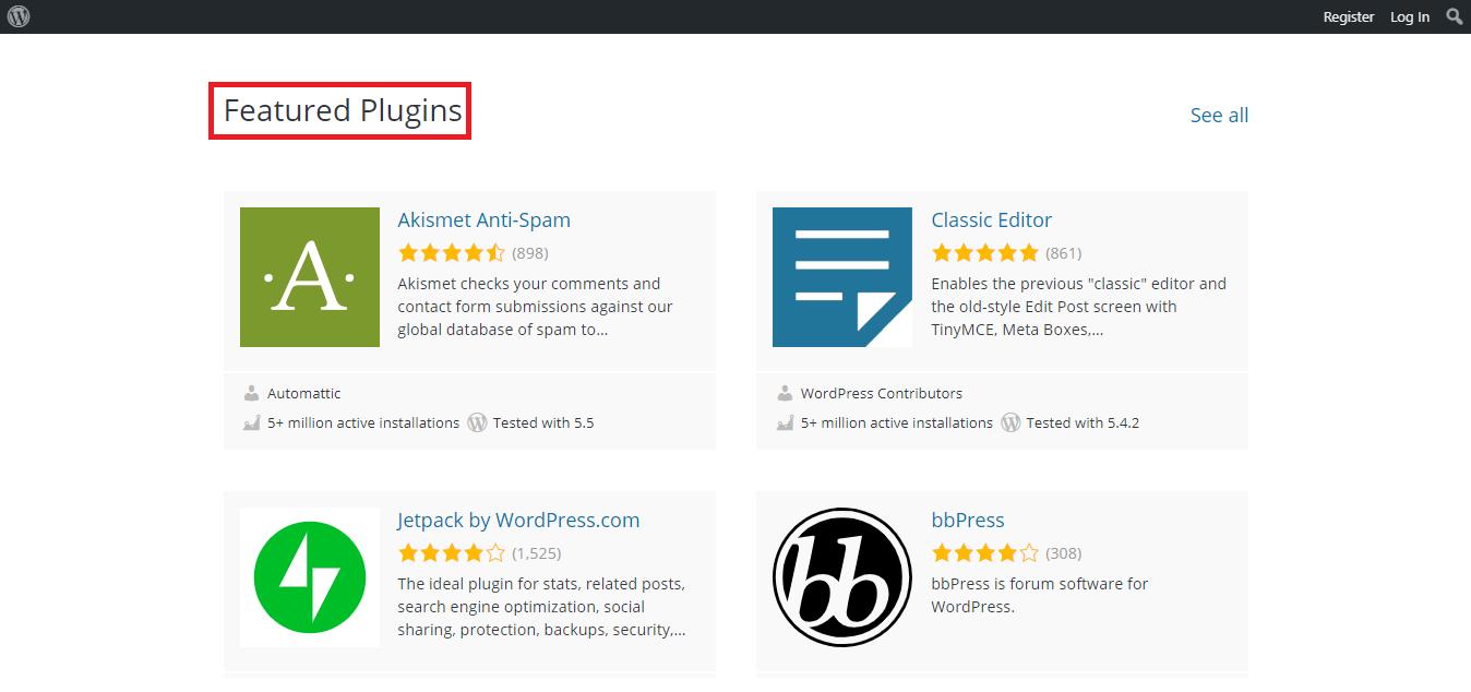 featured plugins
