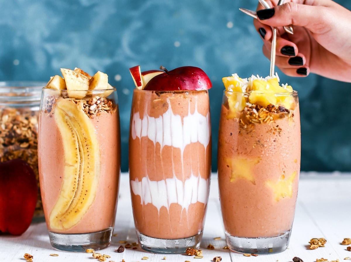 Gainer banana and cinnamon smoothie