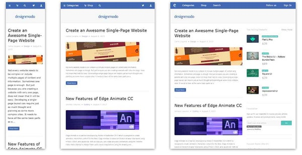 Designmodo - Responsive Design Example