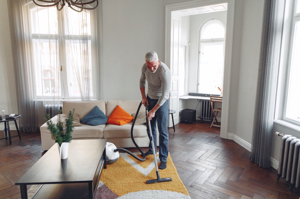Vacuuming leaves you physically fit and gives you some much needed physical activity