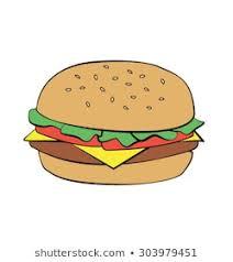 Image result for plain hamburger bun cartoon