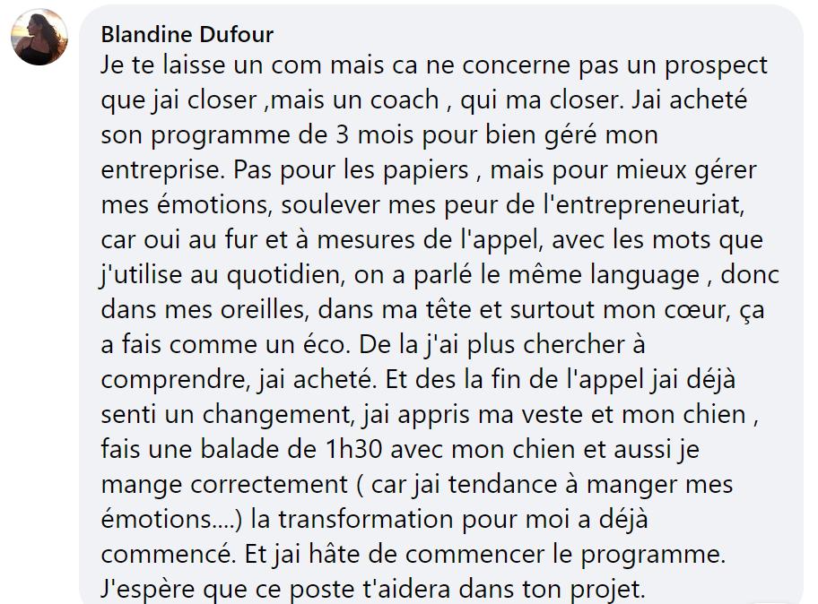 Retour Blandine