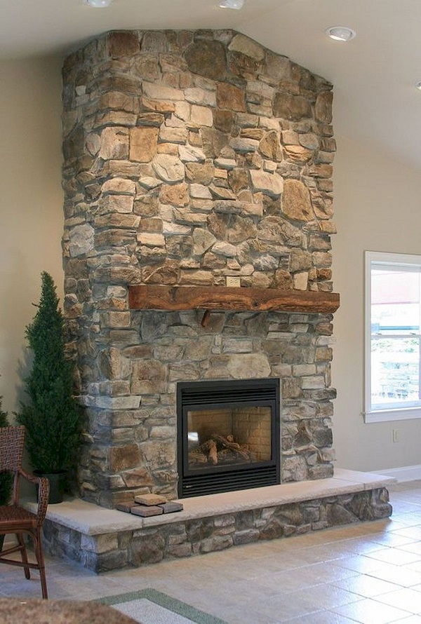 31 Farmhouse Fireplace Decor Ideas
