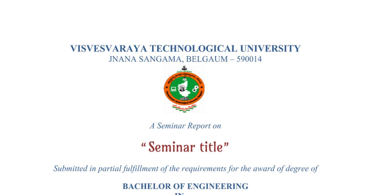 Seminar report format google docs yadclub Choice Image
