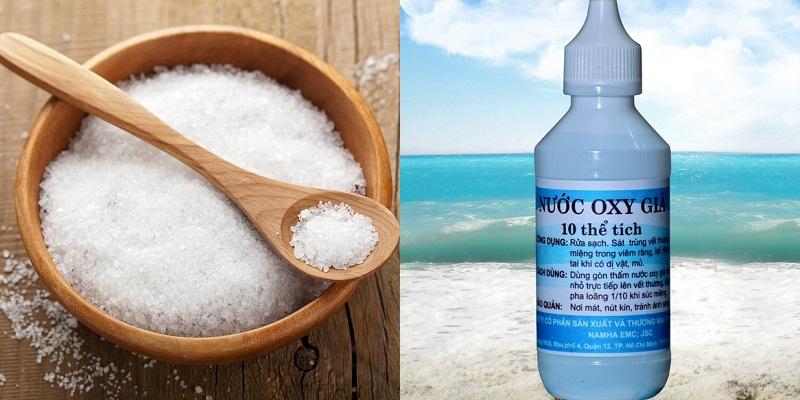 dùng muối và oxy gia giup tẩy nhanh vết bẩn trên áo quần nhanh chóng