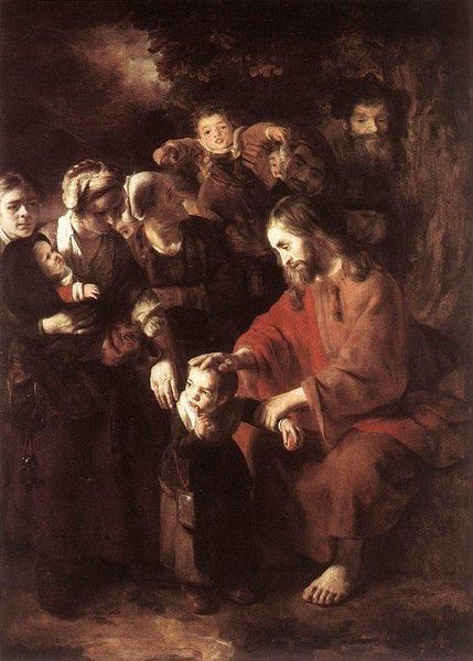 Resultado de imagen para jesus bendice a los niños nicolas maes