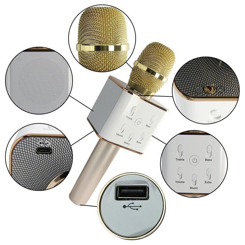 Microphone Bluetooth Professionel sans Fil Micro USB Karaoké Telephone Podcast Livestream KTV www.avalonkef.com 2.jpg