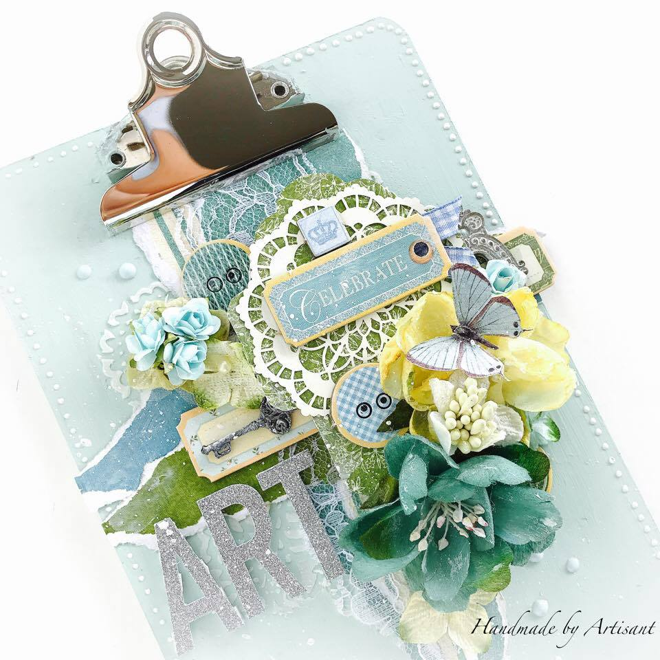 Once Upon a Springtime and Café Parisian altered note pad for G45, by Aneta Matuszewska photo 2.jpg