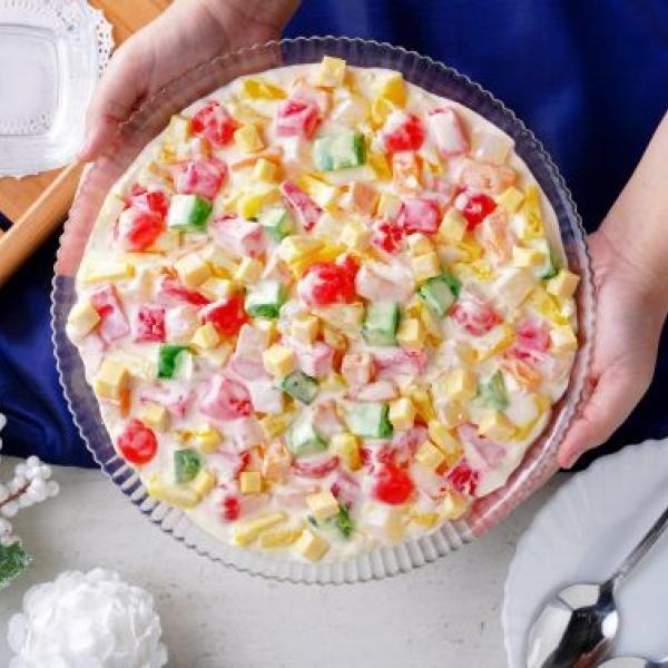 new year desserts creamy special fruit salad