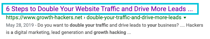 example of seo title