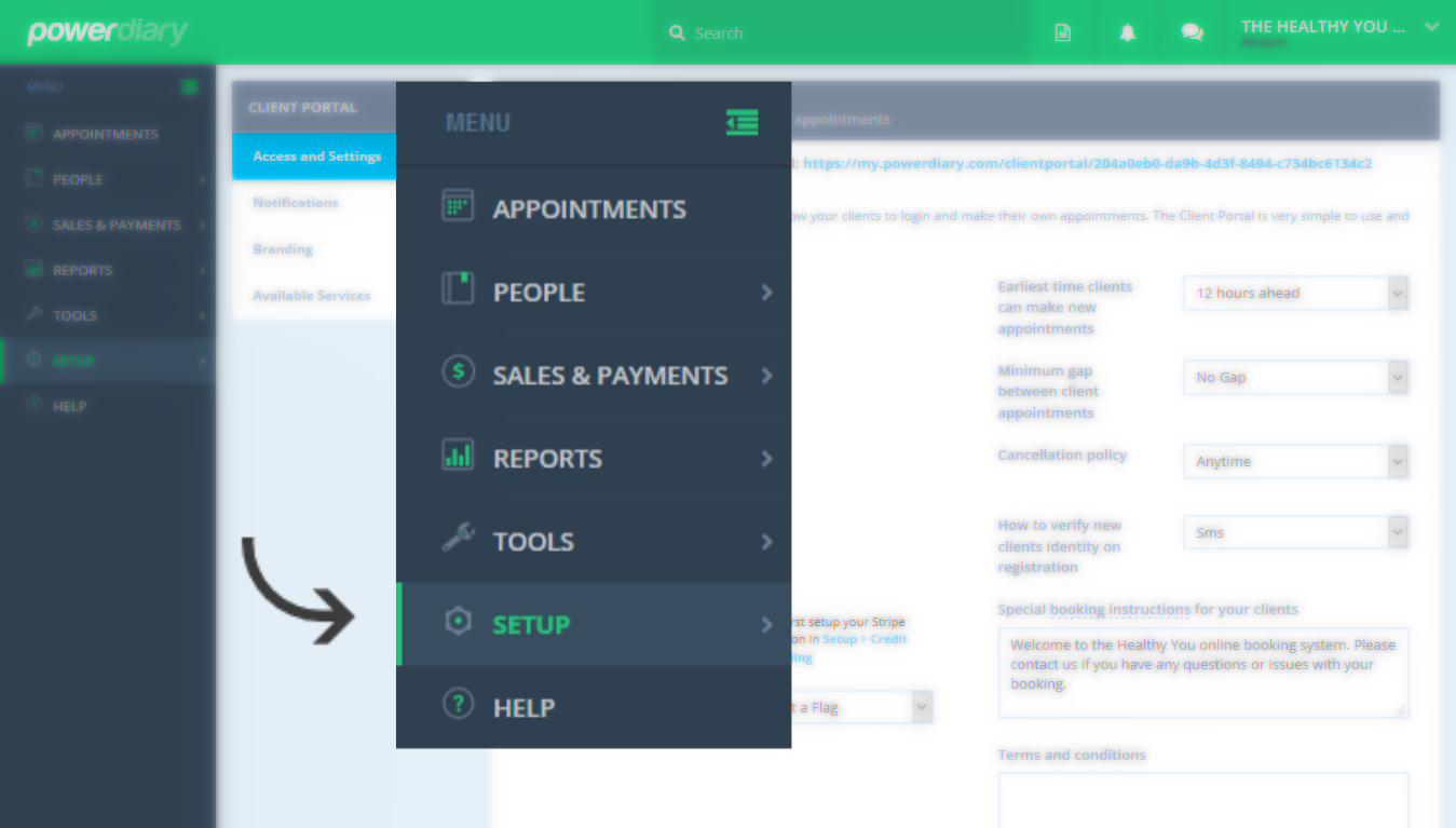 Adding Your Client Portal to Your Website - Power Diary