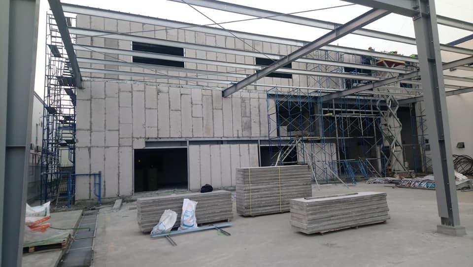 Công trình được đảm bảo với tấm tường Panel bê tông xốp EPS.