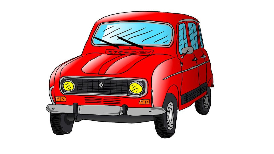 Free photo Car R4 Drawing Illustration Renault Auto - Max Pixel