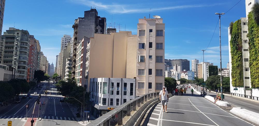 A área do Minhocão é 79% mais poluída do que o restante da cidade de São Paulo. (Fonte: Shutterstock)