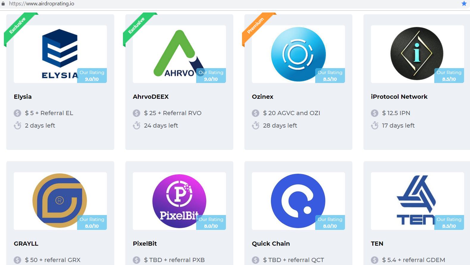 Screen shot of airdrop files.
