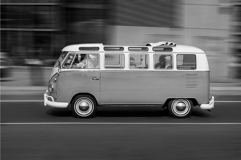 Foto de uma kombo wolkswagen