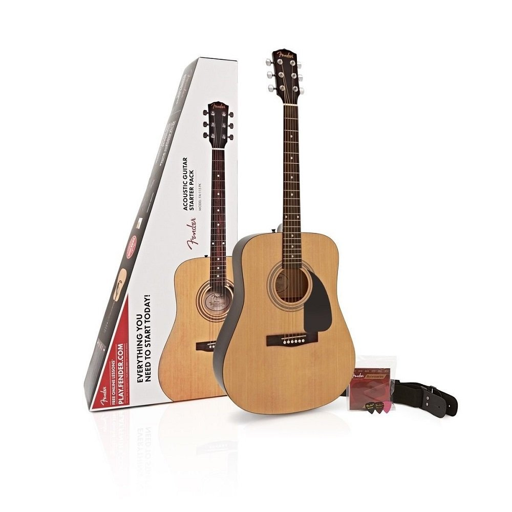 Fender Natural 971110421 FA-115 Dreadnought pack