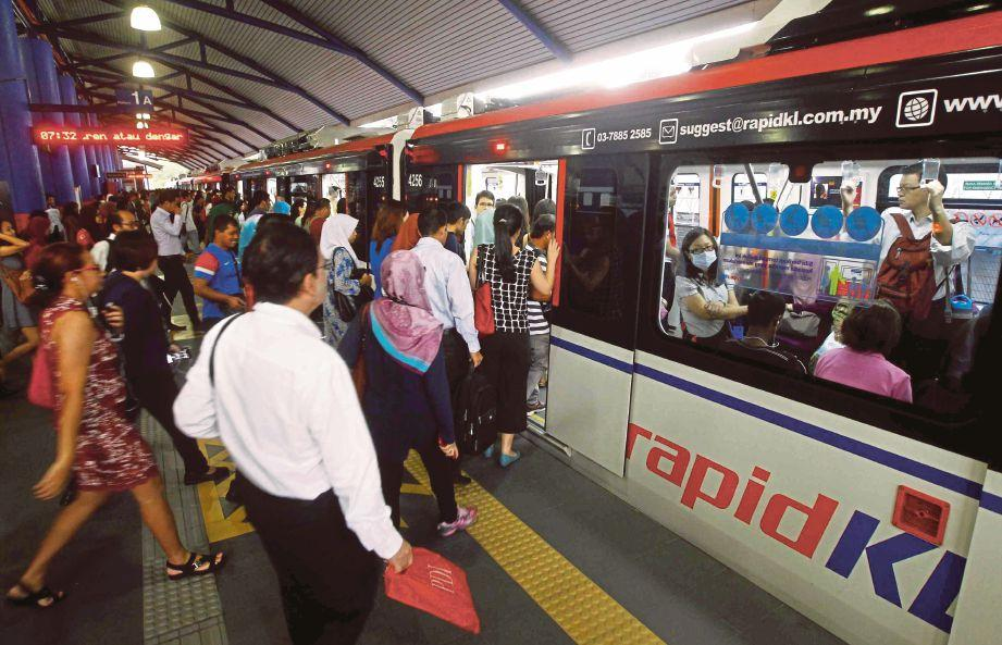 Image result for bersesak LRT